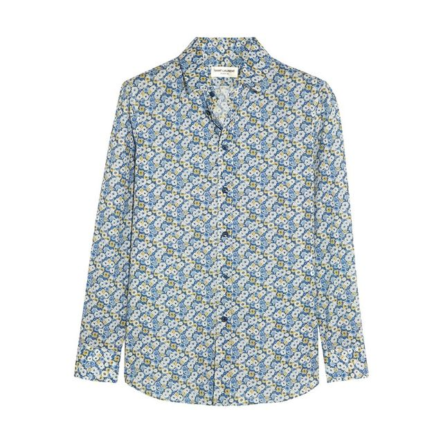 Saint Laurent Floral-Print Cotton Shirt