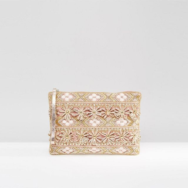 New Look 3D Floral Clutch
