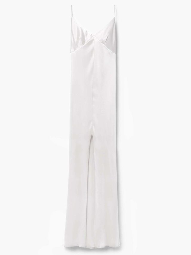 Mango Premium Cut-Out Silk Dress