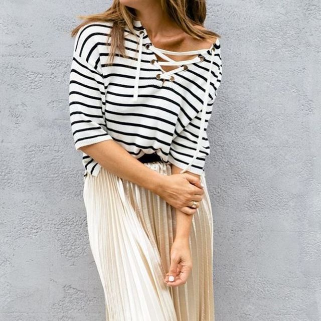 1.	Only wear stripes in one garment of any outfit.