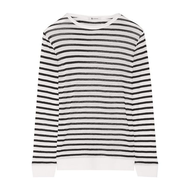 T By Alexander Wang Stripe Jersey Top
