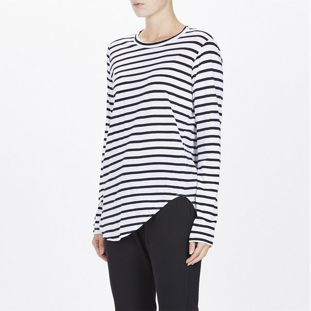 Bassike Stripe Heritage Long Sleeve Top