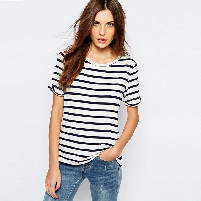 Vila Stripe Boxy Top