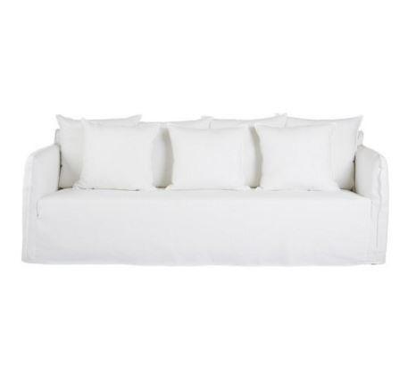 Leo Linen Sofa - Italian White
