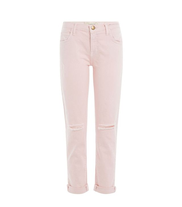 Current/Elliott The Fling Distressed Cropped Jeans