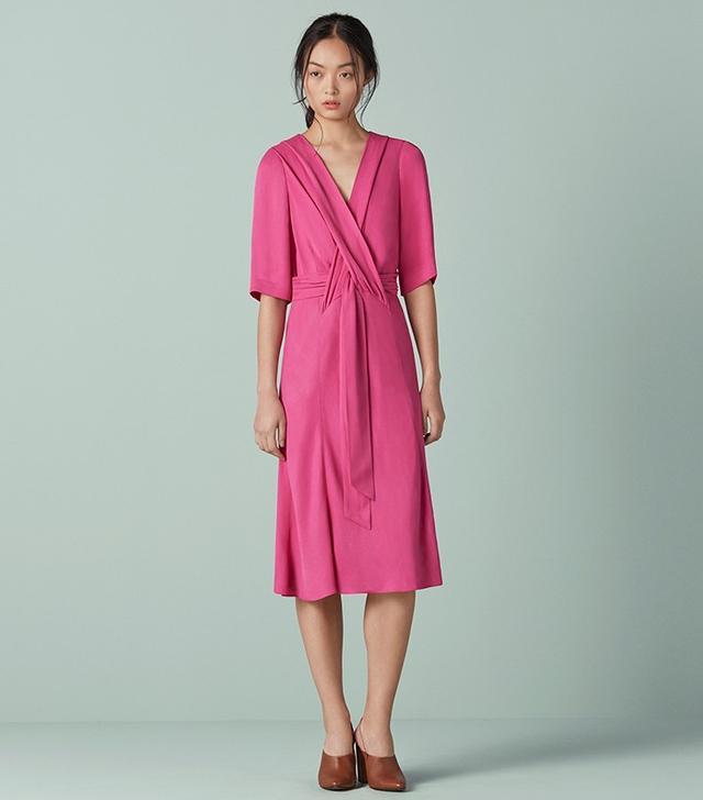 Finery London Carville Twist Front Tea Dress