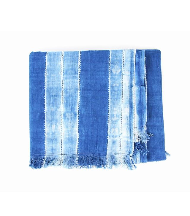 Tensira Indigo Throw With Fringes