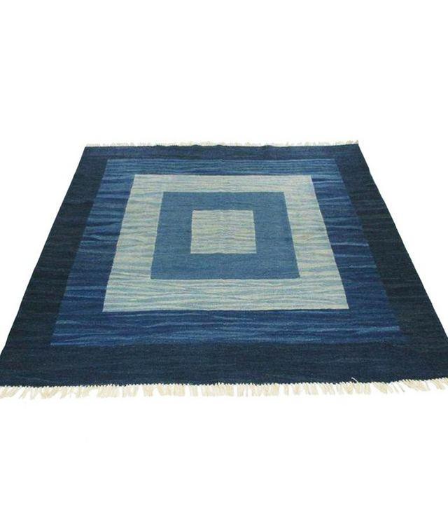 Vintage Blue Rug & Relic Yeni Kilim