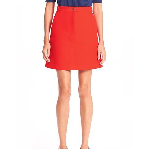 Cotton Gabardine A-Line Skirt