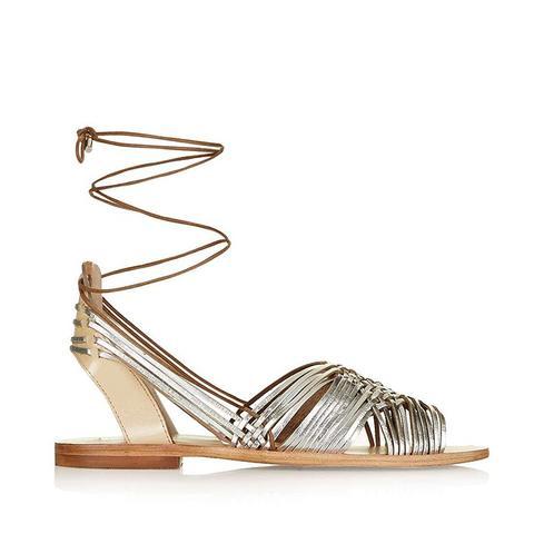 Footloose Ankle-Tie Sandals