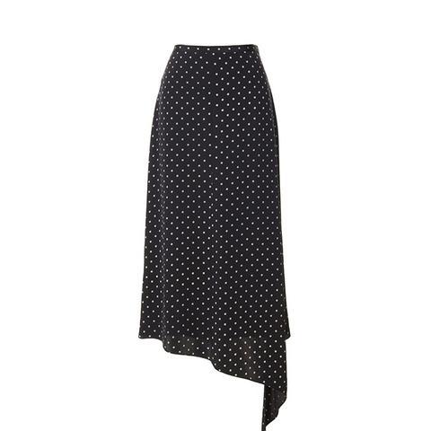 Diffusion Polka Dot Draped Skirt