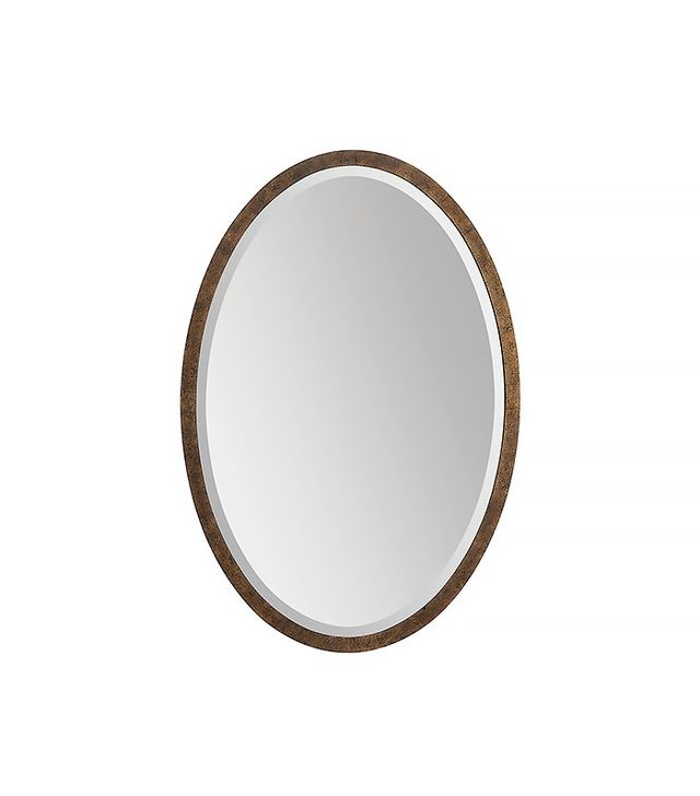 One Kings Lane Oval Mirror in Gold