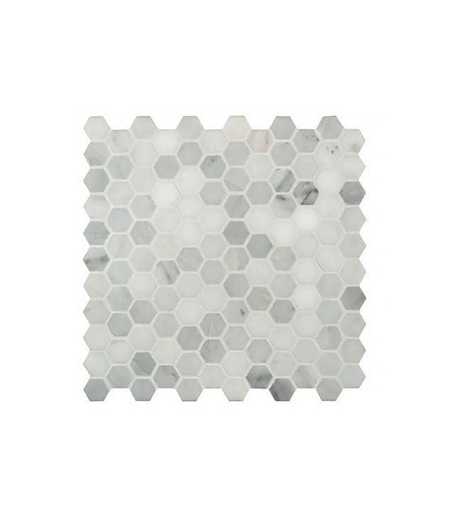 MSI Arabescato Carrara Hexagon & Dot Marble Mosaic Tile