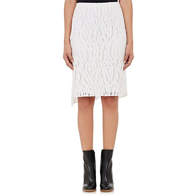 3.1 Phillip Lim Woven Lace Pencil Skirt