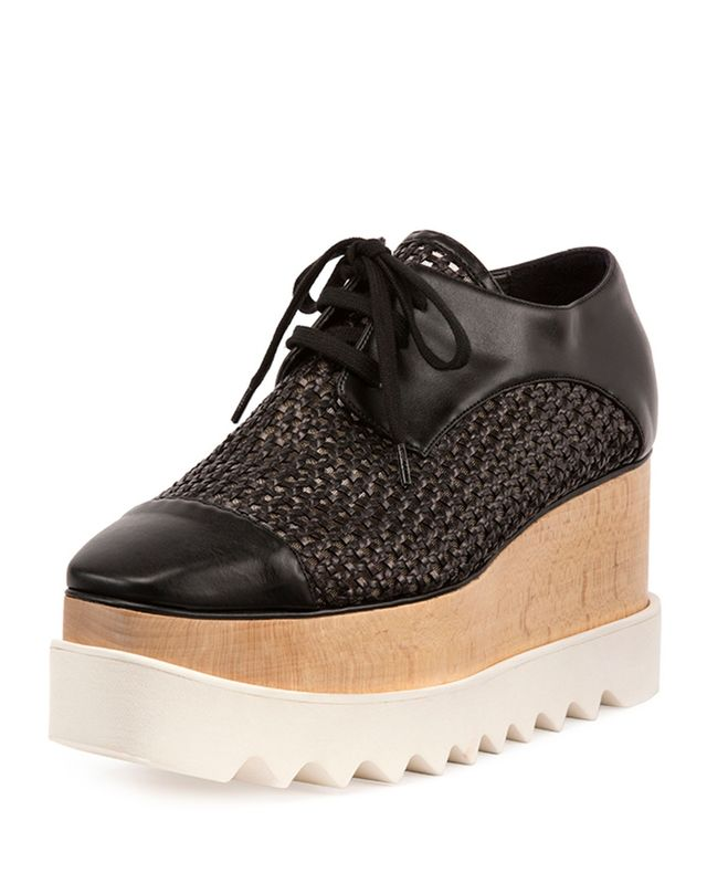 Stella McCartney Elyse Woven Platform Oxfords