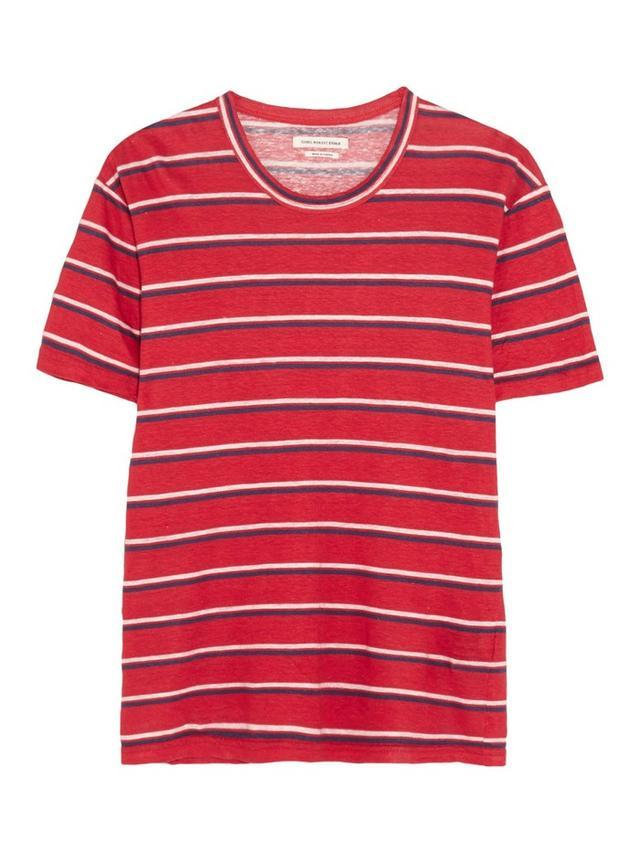 Étoile Isabel Marant Ken Striped Linen T-Shirt