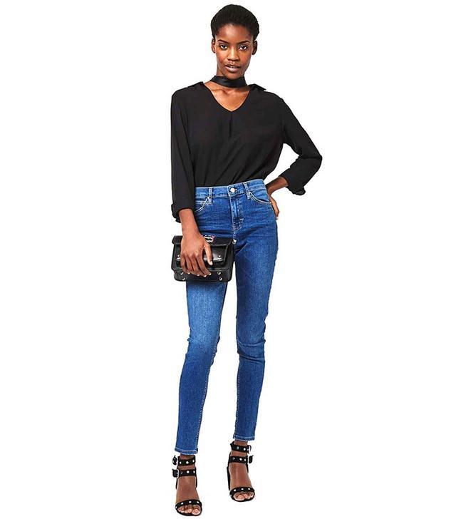 Topshop MOTO Mid Blue Jamie Jeans