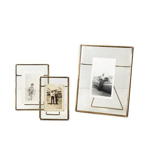 Pressed Glass Photo Frame