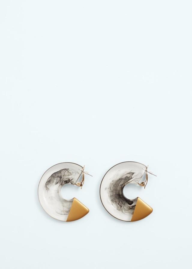 Mango Twisted Hoop Earrings