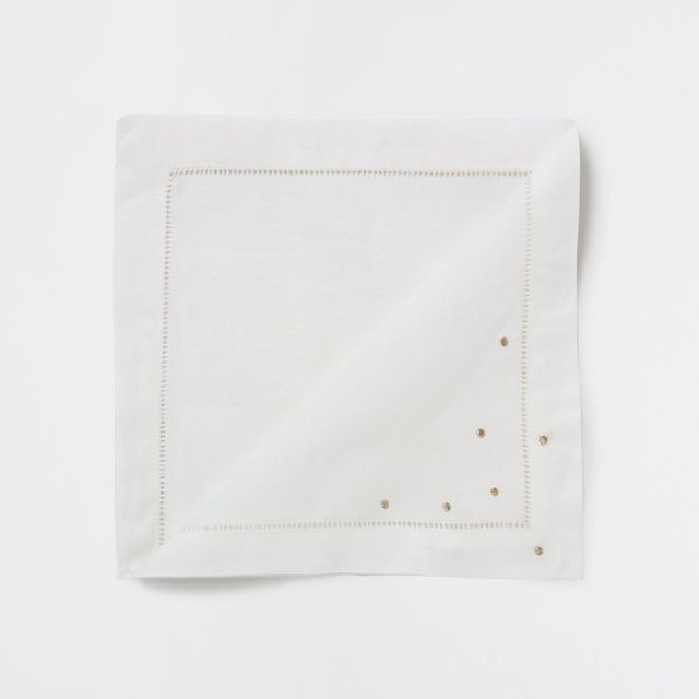 Zara Home Shiny Embroidered Ramie Napkins (Set of 4)