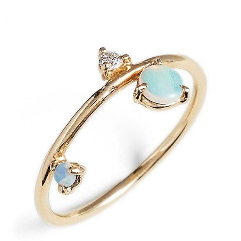 Three-Step Balloon Opal & Diamond Ring