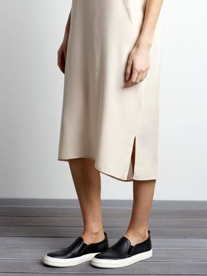 A Casual, Cool Way to Wear a Slip Dress