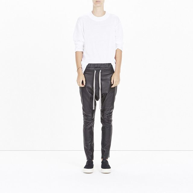 Bassike Relaxed Leather Pants
