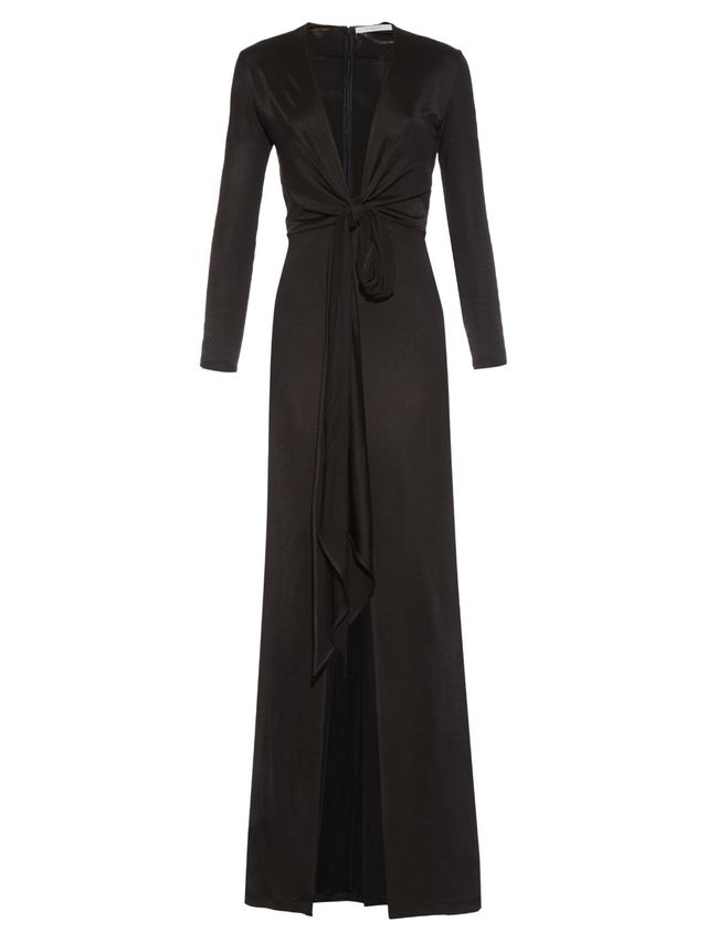 Givenchy Deep-Neck Gown