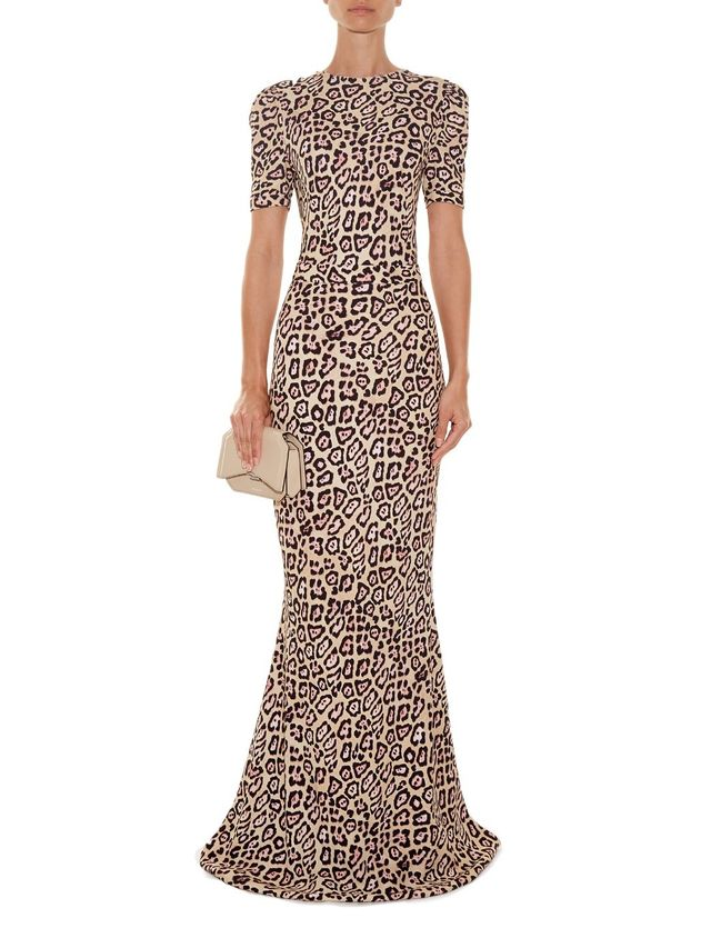 Givenchy Deep V-Back Gown
