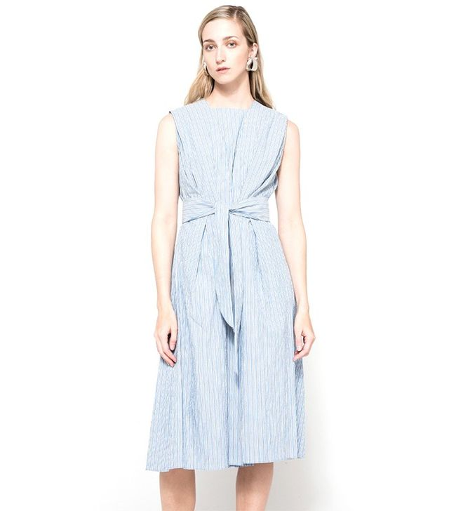 Trademark Shadow Striped Tie Dress