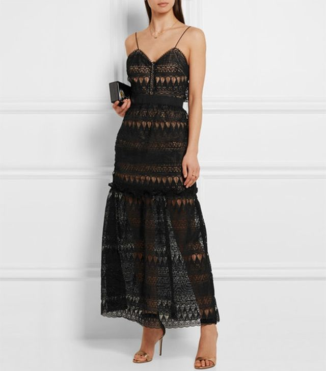 Self-Portrait Guipure Lace Dress