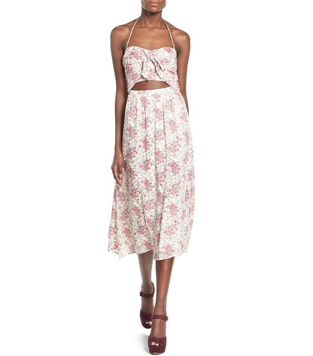 Wayf Floral Print Midi Dress