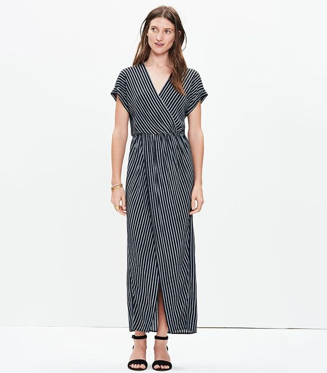 Madewell Wrap-Front Maxi Dress