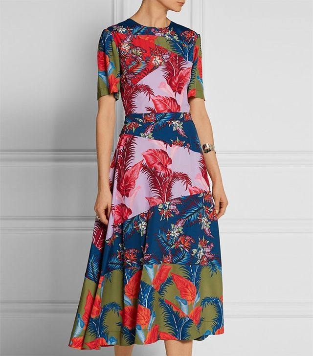 House of Holland Printed Midi Dress