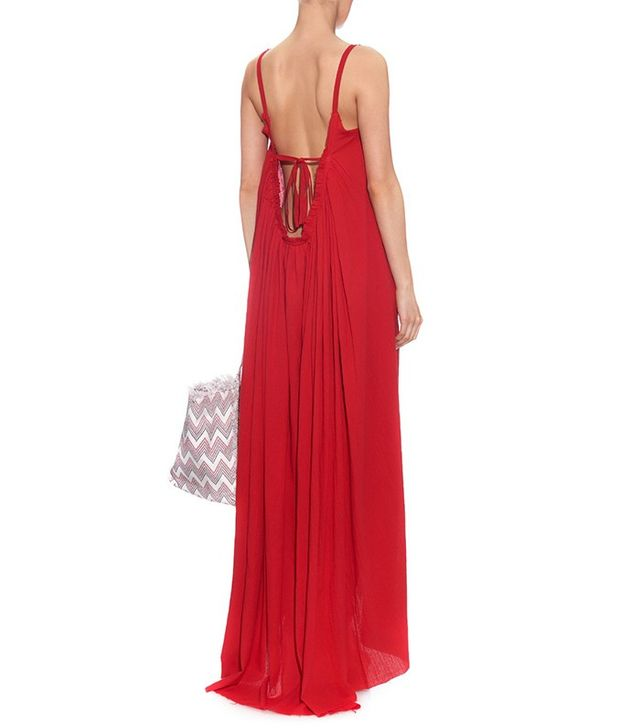 Loup Charmant Gather Cotton Maxi Dress