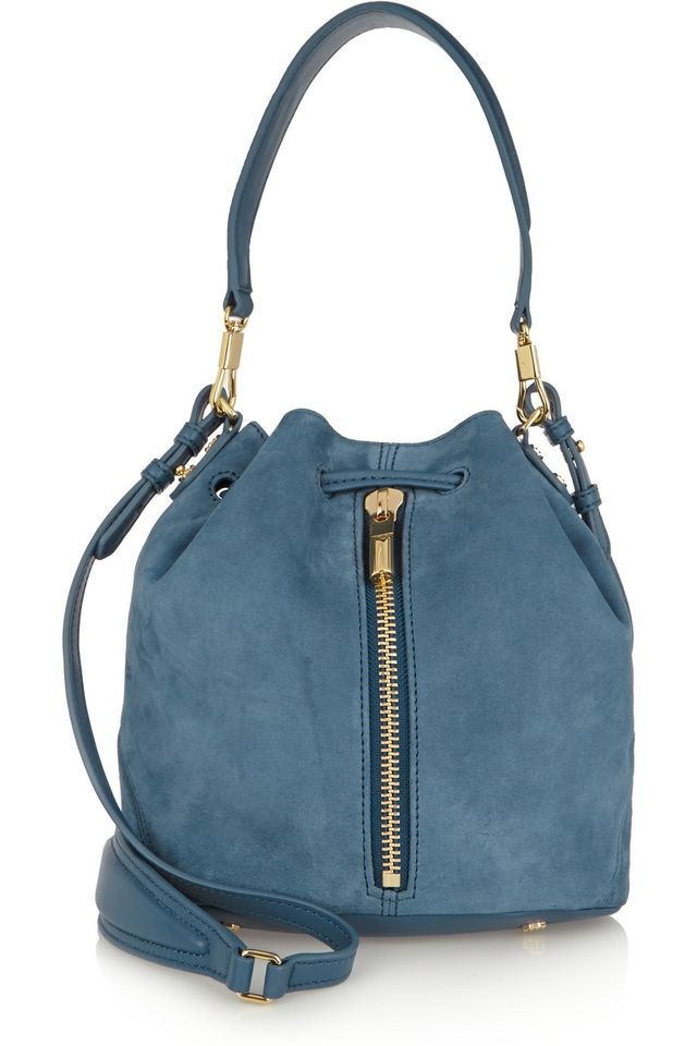 Elizabeth and James Cynnie Mini Suede Bucket Bag
