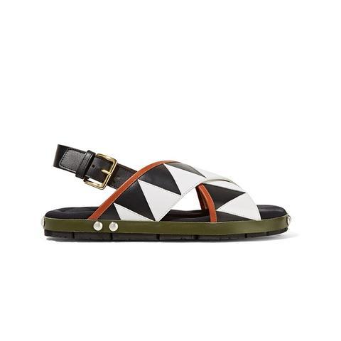 Appliquéd Leather Sandals
