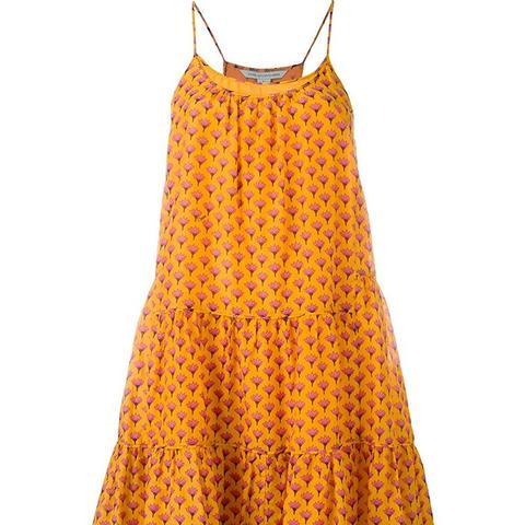 Baylee Peace Palm Print Ruffle Dress