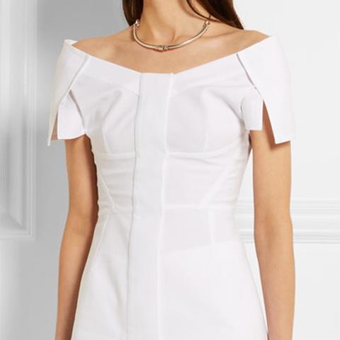 Off-the-Shoulder Cotton-Piqué Top