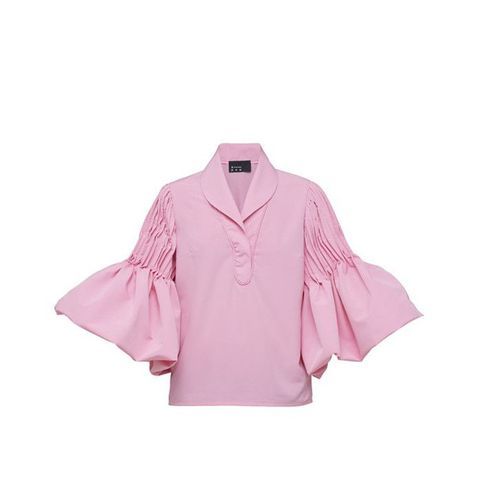 Pink Flamenco Blouse With Wide Sleeves