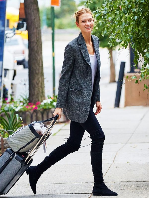 Blazer + Over-the-Knee Boots