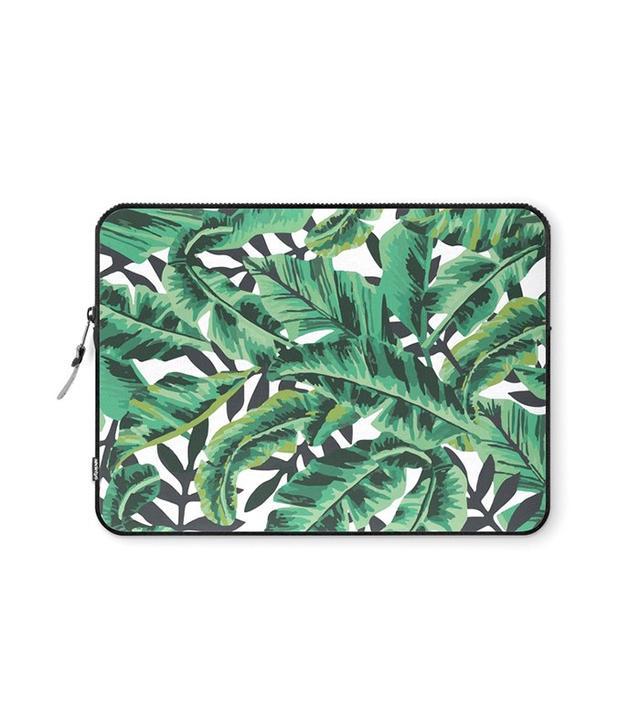 Society6 Tropical Glam Banana Leaf Print Laptop Sleeve