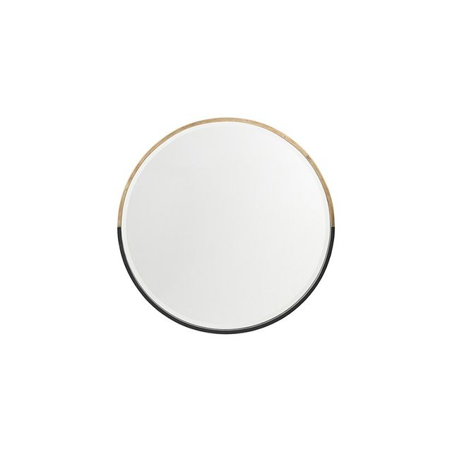 Freedom Half Moon Mirror 90cm in Brass Colour