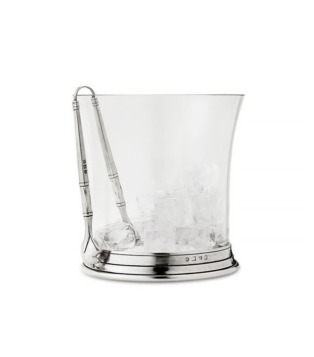 TRNK Italian Pewter & Crystal Ice Bucket