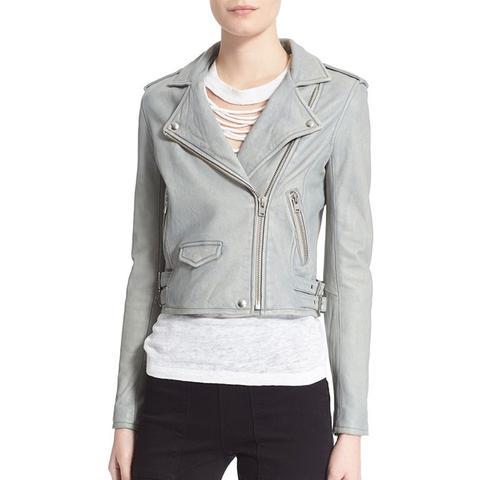 Ashville Lambskin Leather Moto Jacket