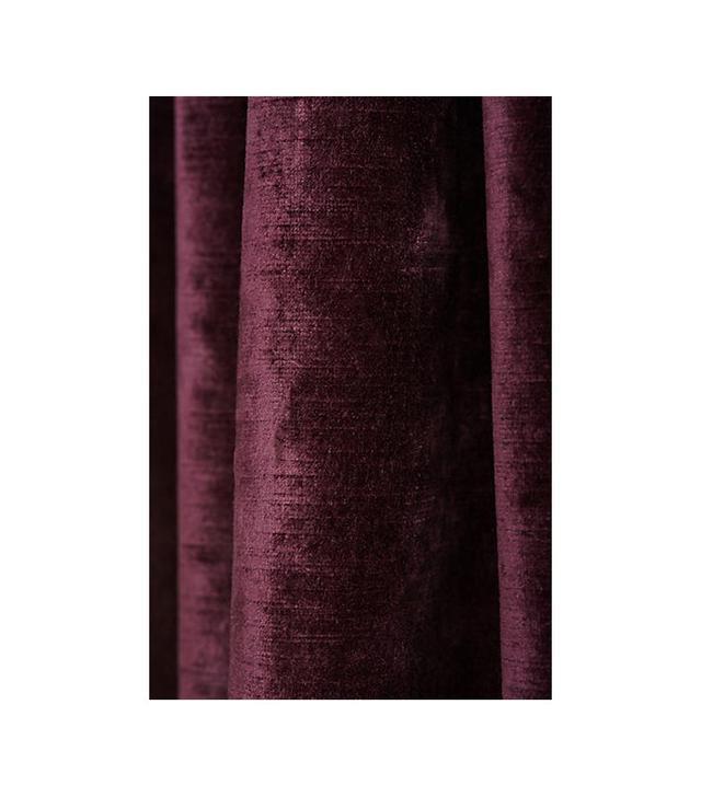 Anthropologie Slub Velvet Curtain
