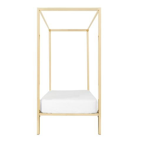 Four-Poster Rose Gold Single Bed