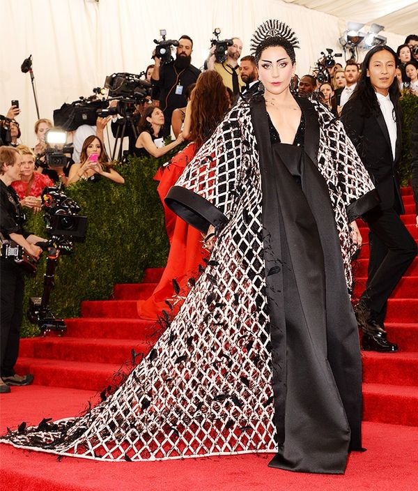 WHO:Lady Gaga WEAR:Alexander Wang forBalenciaga custom gown; Fred Leighton jewellery.