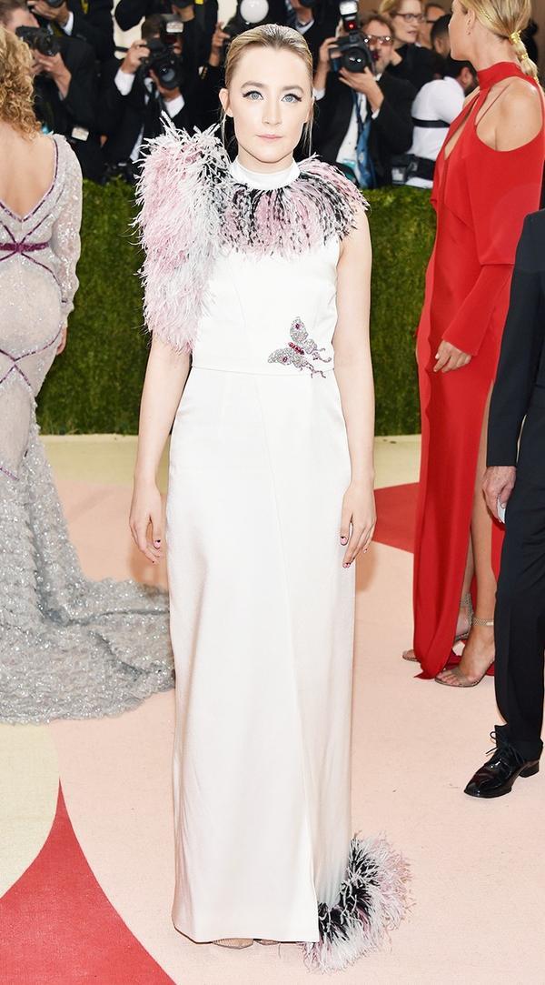 WHO:Saoirse Ronan WEAR:Christopher Kane gown.