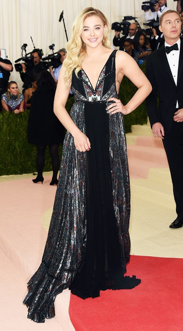 WHO: Chloe Grace Moretz WEAR: Coach gown.